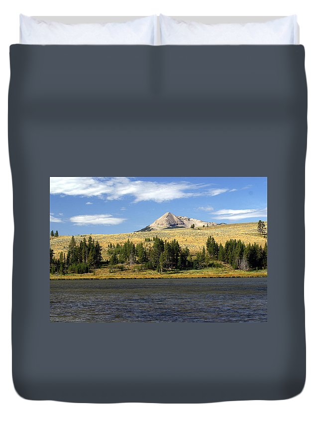 Yellowstone National Park Duvet Cover featuring the photograph Electric Peak 1 by Marty Koch