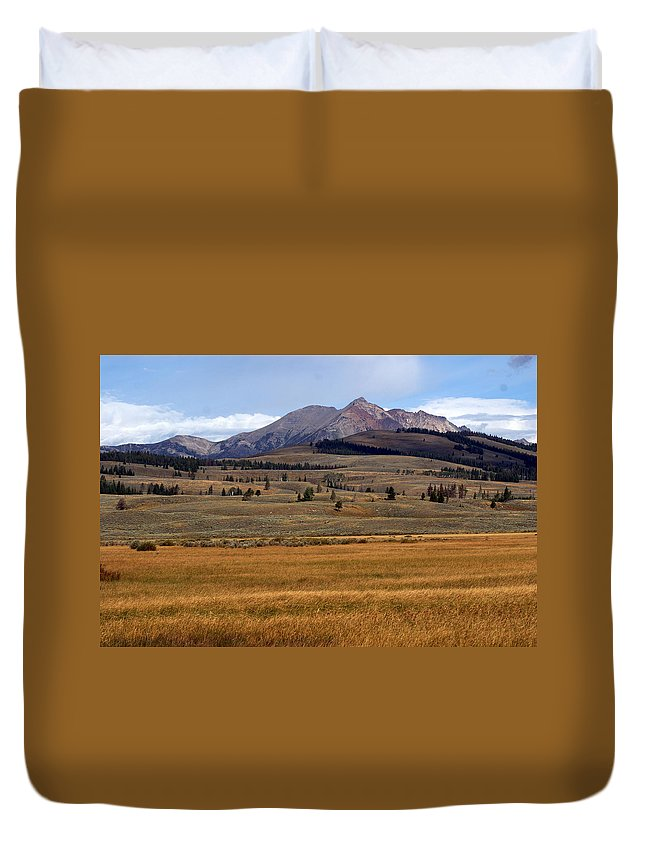 Yellowstone National Park Duvet Cover featuring the photograph Electric Peak 2 by Marty Koch
