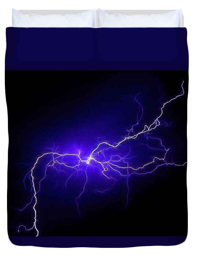 Duvet Cover featuring the photograph Electric Sky by Kathleen Prince