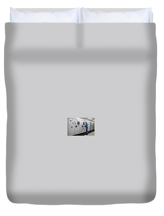 Electrical Panel Board Manufacturers Duvet Cover featuring the digital art Electrical Panel Board Manufacturers by Sonu Kumar