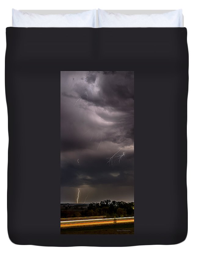 Electrified Duvet Cover featuring the photograph Electrified Clouds by Gary Mosman