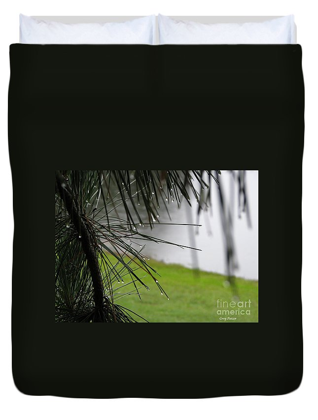 Lakes Duvet Cover featuring the photograph Elements by Greg Patzer