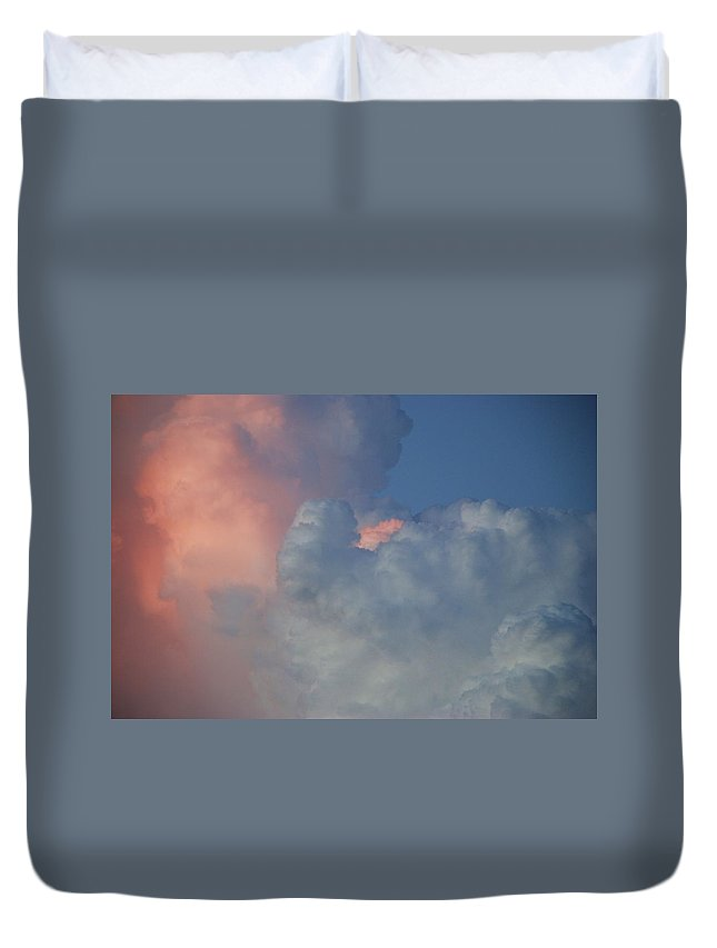 Clouds Duvet Cover featuring the photograph Elephant In The Sky by Rob Hans