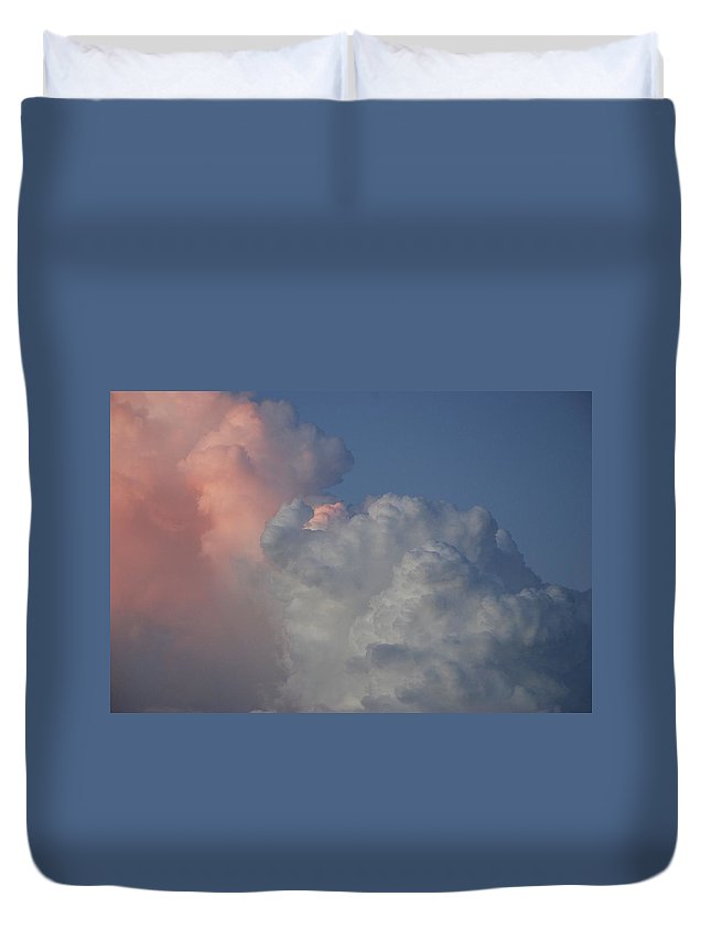 Clouds Duvet Cover featuring the photograph Elephant Sky by Rob Hans