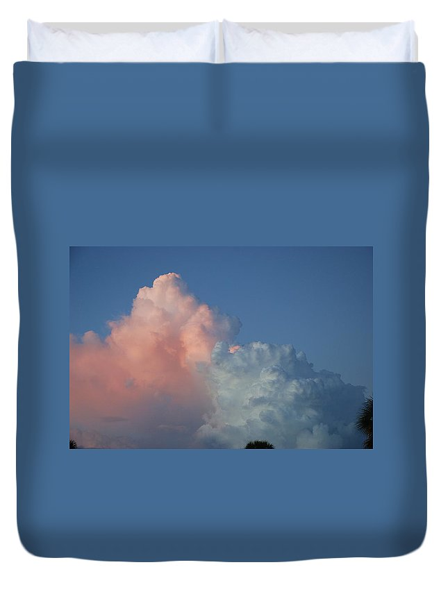 Clouds Duvet Cover featuring the photograph Elephants Clouds by Rob Hans