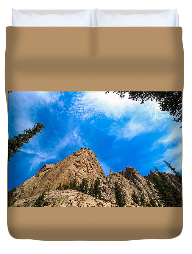 Rock Duvet Cover featuring the photograph Elephant's Perch by Brandon Swanson