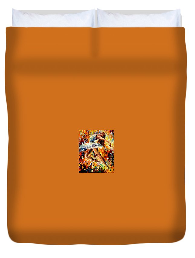 Afremov Duvet Cover featuring the painting Elevation by Leonid Afremov