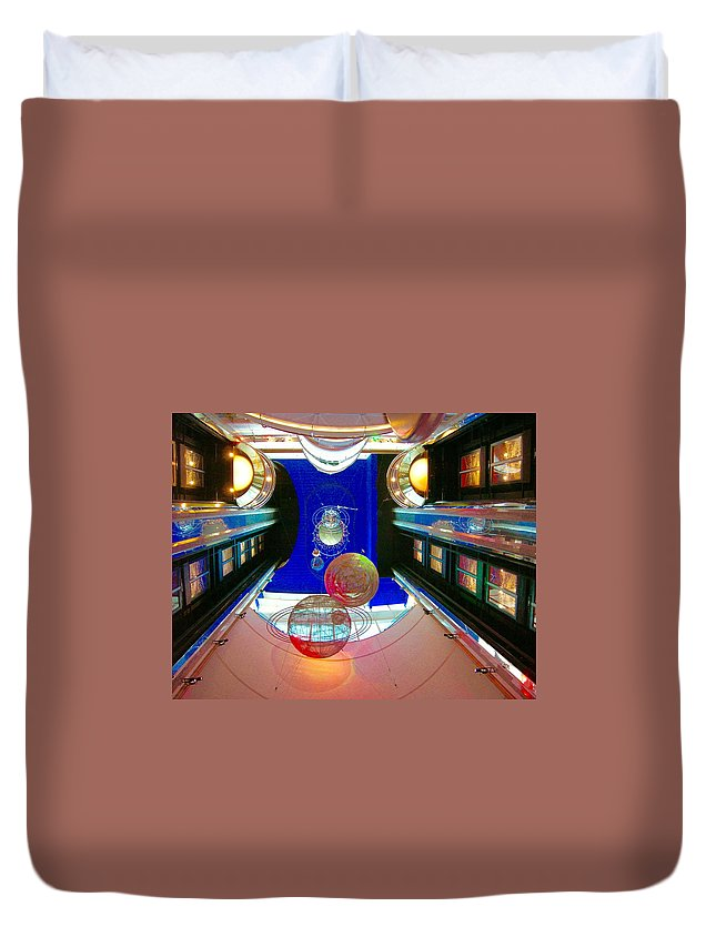 Colorful Duvet Cover featuring the photograph Elevator Lobby by Clifton Facey