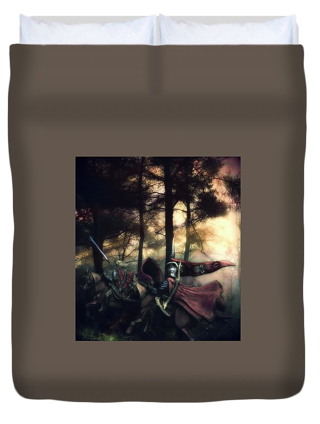 Elf Duvet Cover featuring the photograph Elf Knights by Marko Paakkanen