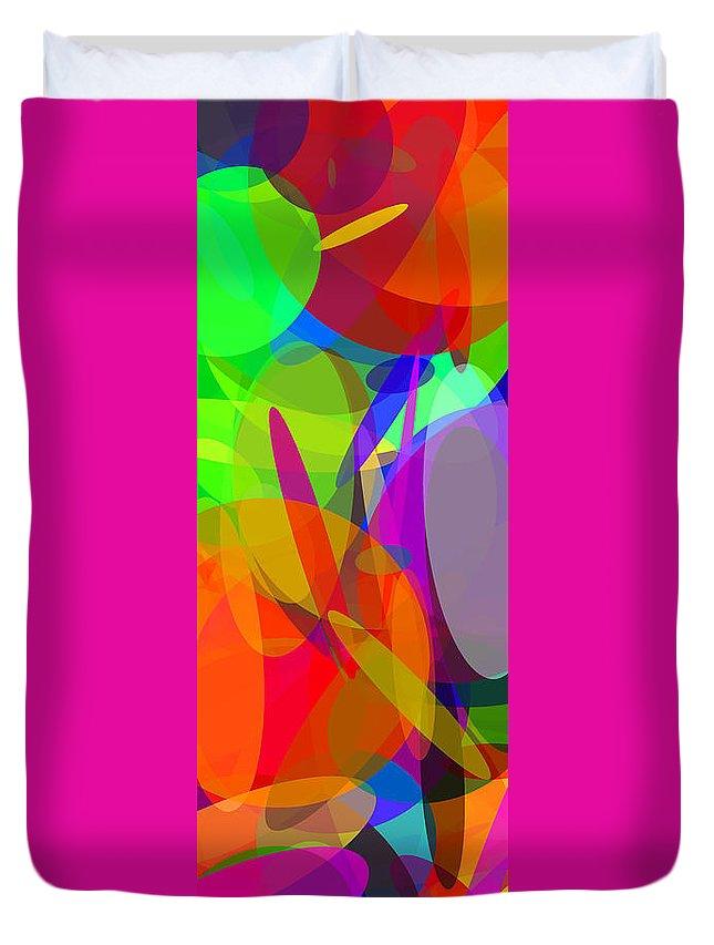 Ellipse Duvet Cover featuring the digital art Ellipses 6 by Chris Butler