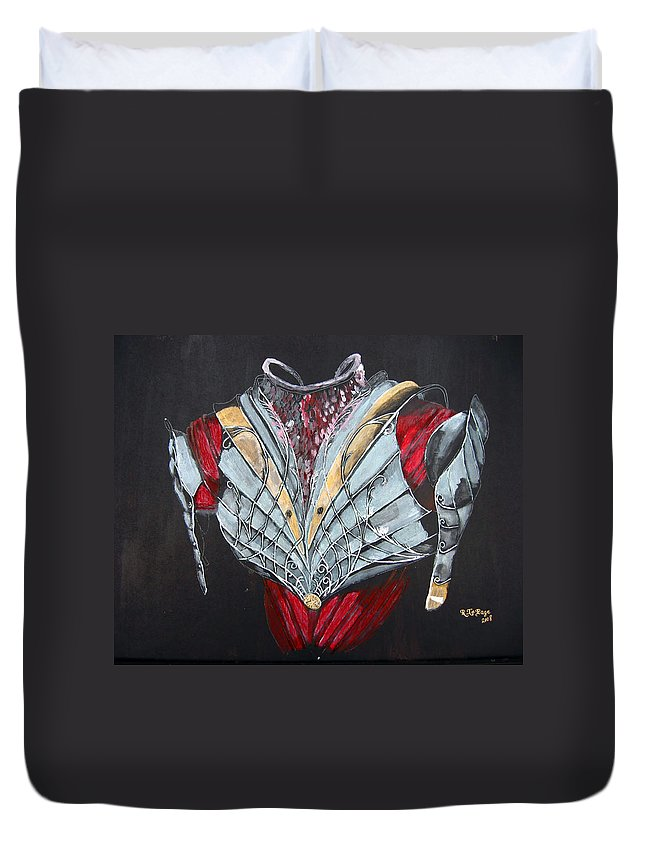 Elven Armor Duvet Cover featuring the painting Elven Armor by Richard Le Page
