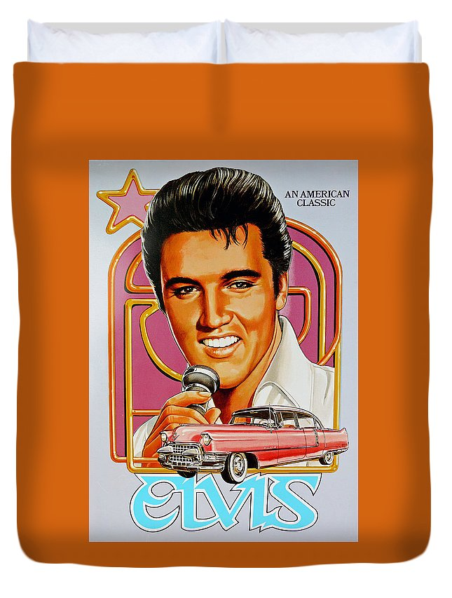 Elvis Duvet Cover featuring the photograph Elvis-an American Classic by John R Bryant