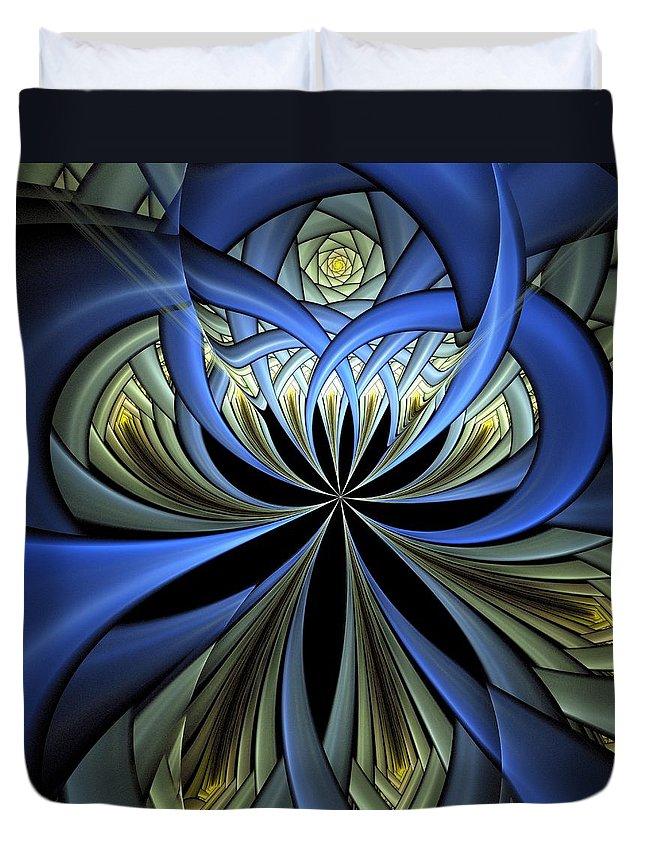Digital Art Duvet Cover featuring the digital art Embedded by Amanda Moore