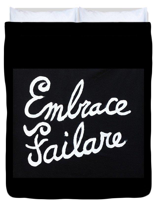 Failure Duvet Cover featuring the painting Embrace Failare by John Kilduff