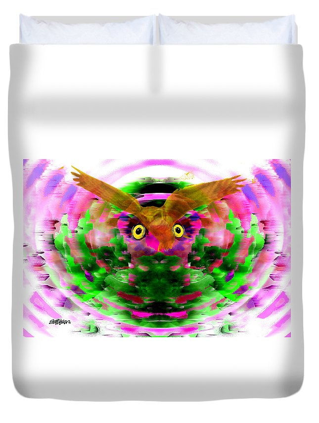 Embrace Duvet Cover featuring the digital art Embrace The Wind by Seth Weaver