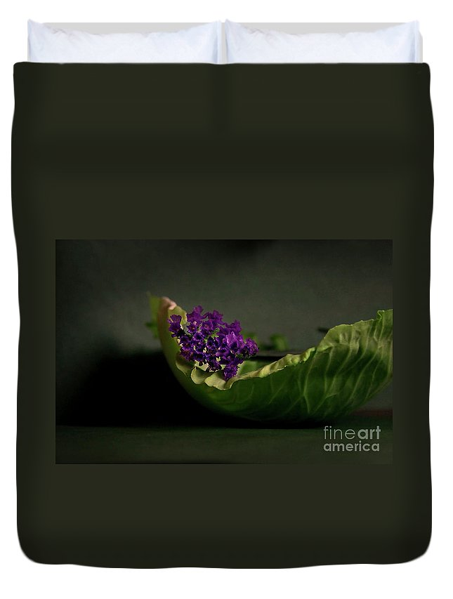 Flower Duvet Cover featuring the photograph Embraced by Eena Bo