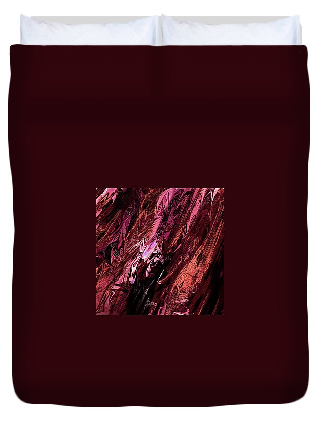 Abstract Duvet Cover featuring the digital art Embryos by Rachel Christine Nowicki