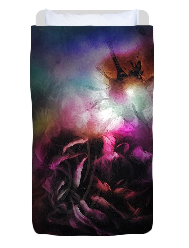 Abstract Duvet Cover featuring the digital art Emergence by Jo-Anne Gazo-McKim
