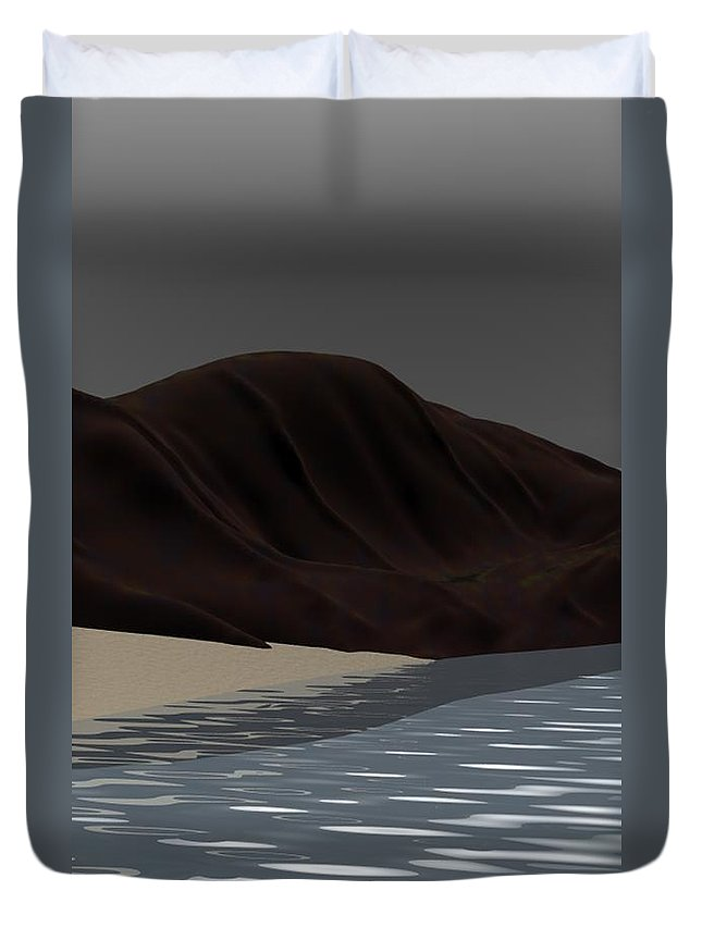 Abstract Duvet Cover featuring the digital art Emotion by David Lane