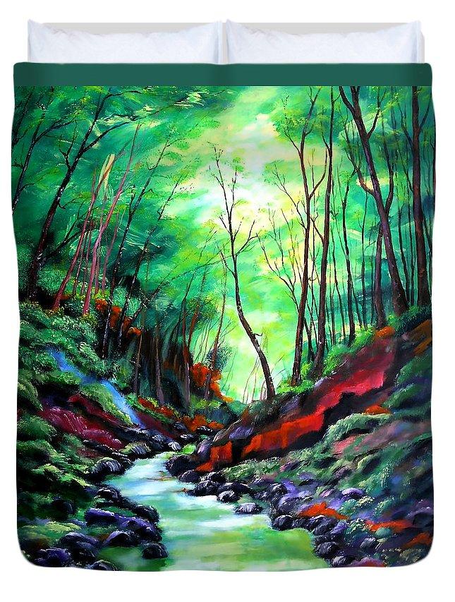 Landscape Duvet Cover featuring the painting Emotion by Eberhard Schmidt-Dranske