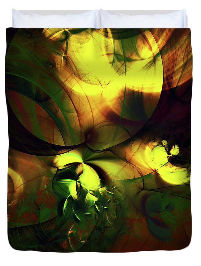 Emotion In Light Duvet Cover featuring the digital art Emotion In Light Abstract by Georgiana Romanovna