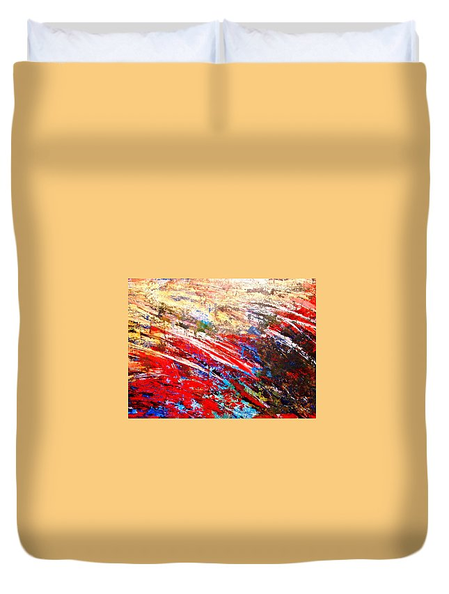 Expressionism Duvet Cover featuring the painting Emotional Explosion by Natalie Holland