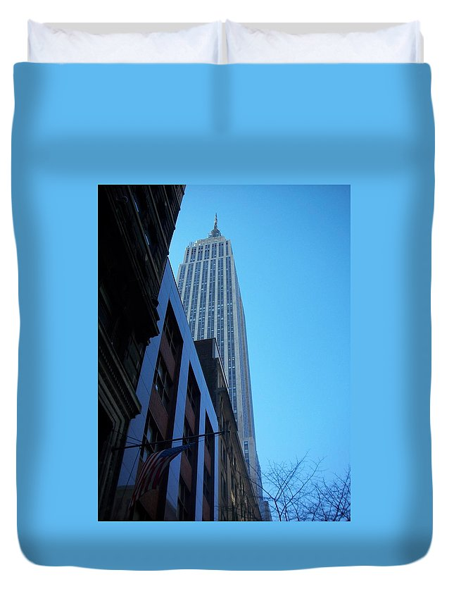 Emoire State Building Duvet Cover featuring the photograph Empire State 1 by Anita Burgermeister