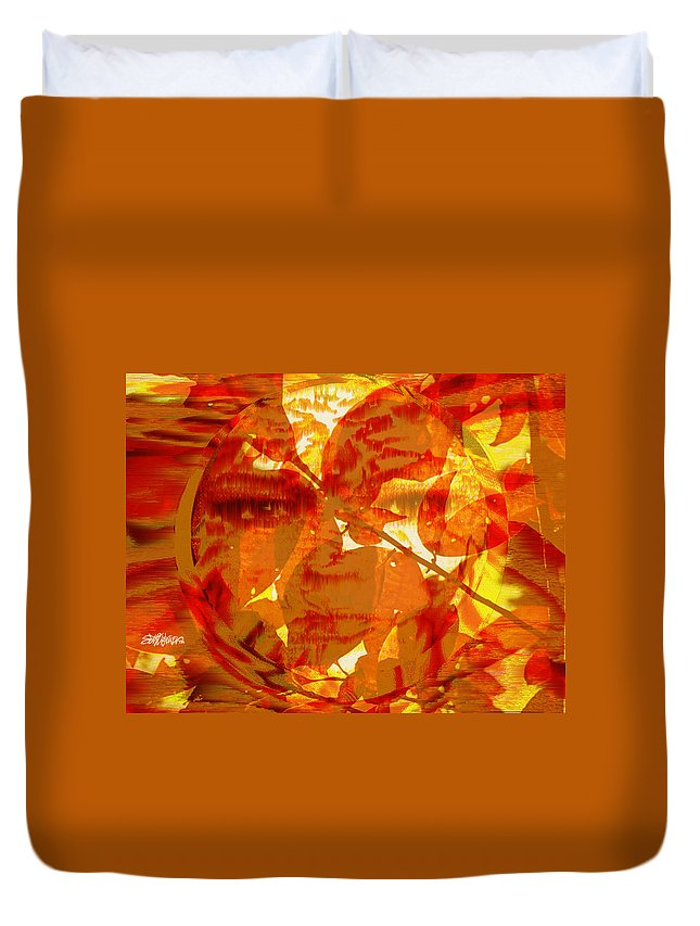 Oriental Duvet Cover featuring the digital art Empress Of The Sun by Seth Weaver