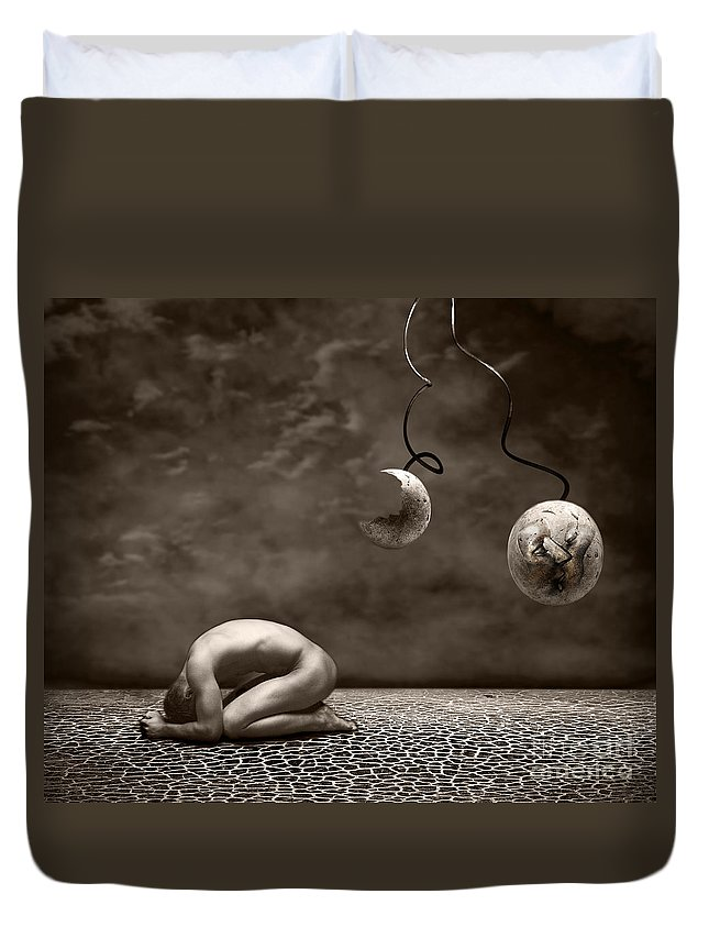 Surreal Duvet Cover featuring the photograph Emptiness by Jacky Gerritsen