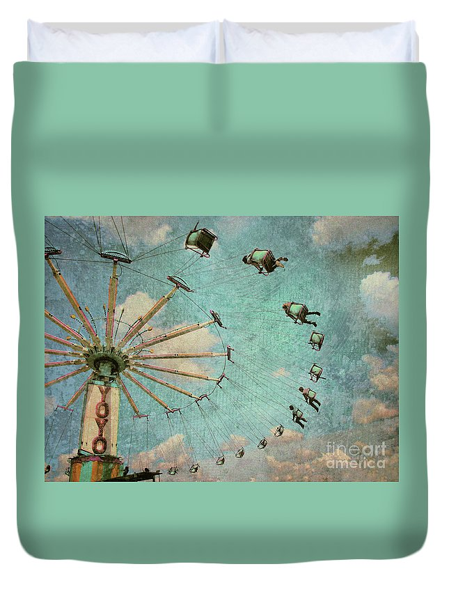Texture Duvet Cover featuring the photograph Empty Seats by Tara Turner