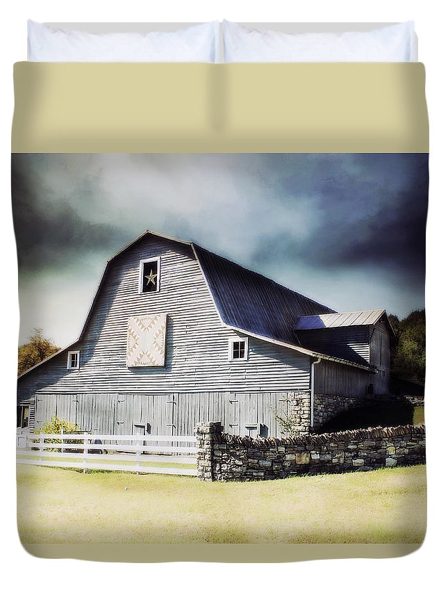 #barn Duvet Cover featuring the photograph Empyrean Estate by Julie Hamilton
