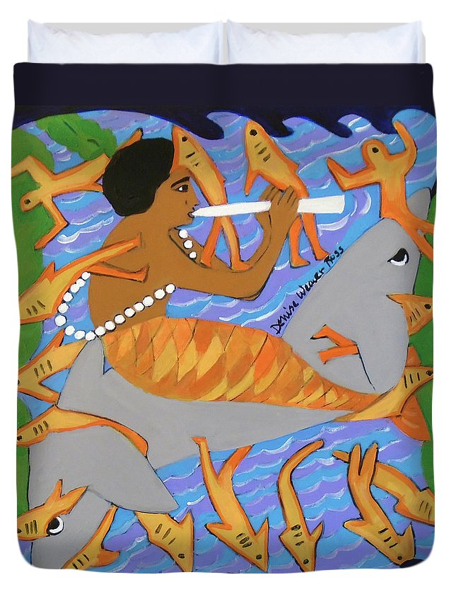 River Duvet Cover featuring the painting Encantado II by Denise Weaver Ross