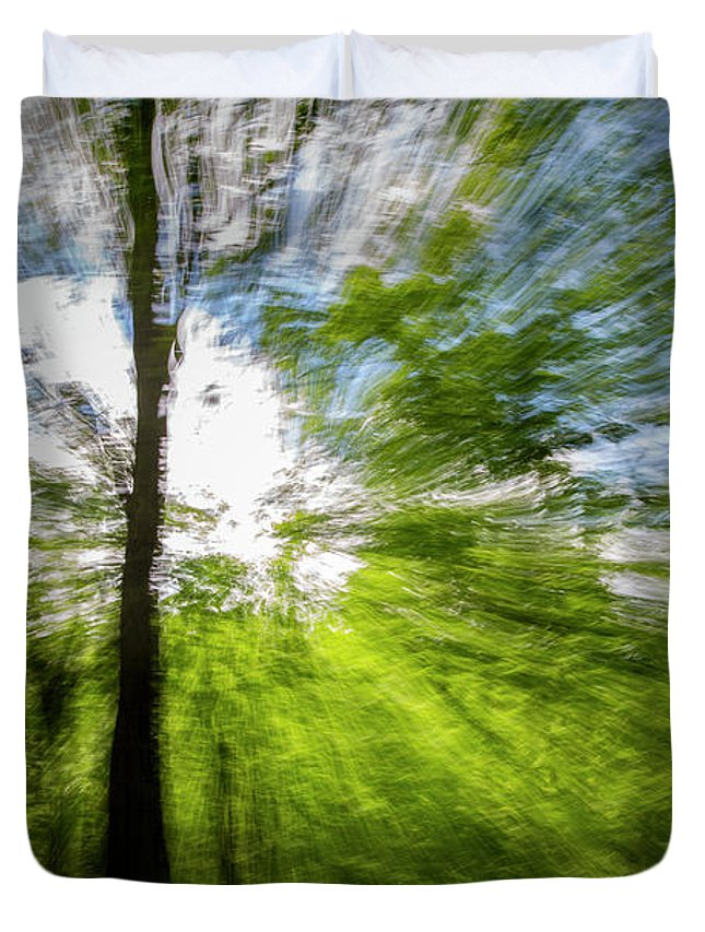 Color Duvet Cover featuring the photograph Enchanted Forest 5 by Frederic A Reinecke
