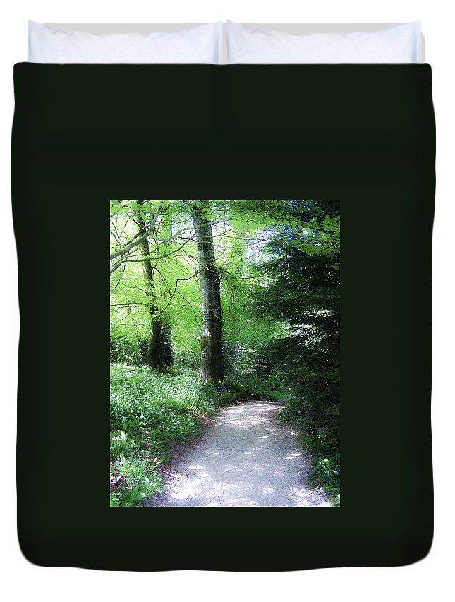Ireland Duvet Cover featuring the photograph Enchanted Forest At Blarney Castle Ireland by Teresa Mucha