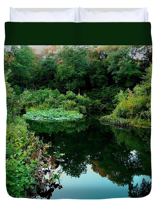 Garden Duvet Cover featuring the photograph Enchanted Gardens by Kendall Eutemey