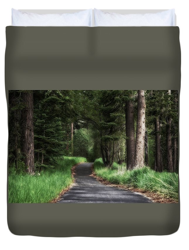 Enchanted Path Duvet Cover featuring the photograph Enchanted Path by Chris Fleming