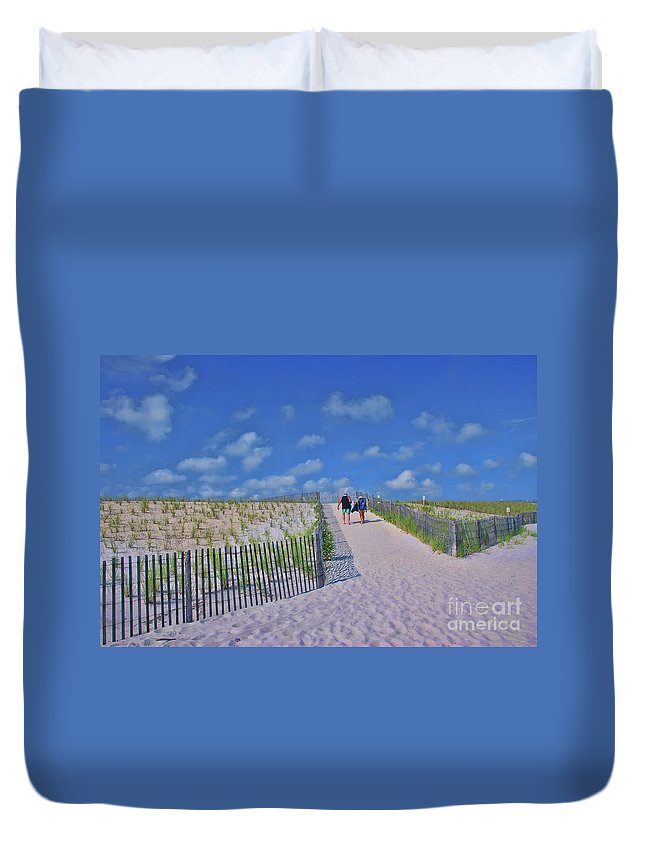 End Of Day Duvet Cover featuring the photograph End Of Day by Allen Beatty
