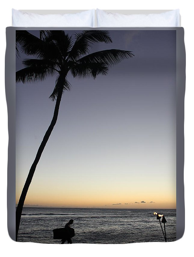 Surf Duvet Cover featuring the photograph End Of The Day by Lauri Novak