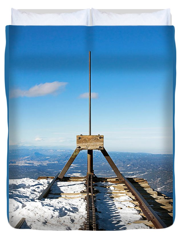 End Duvet Cover featuring the photograph End Of The Line by Nicholas Blackwell