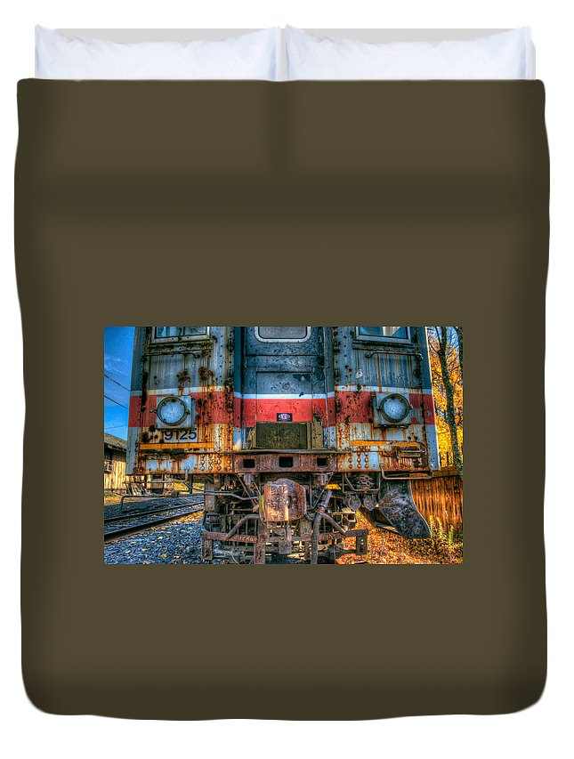 Train Duvet Cover featuring the photograph End Of The Line by William Jobes