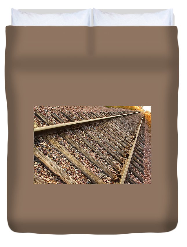 Train Duvet Cover featuring the photograph End Of The Tracks by James BO Insogna