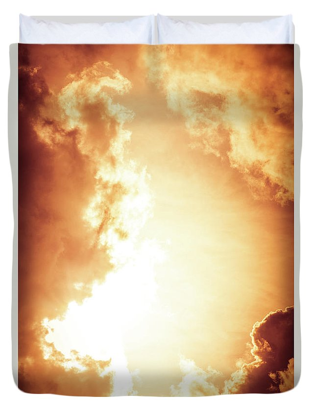 Clouds Duvet Cover featuring the photograph End Of The World? by Matthew Nelson