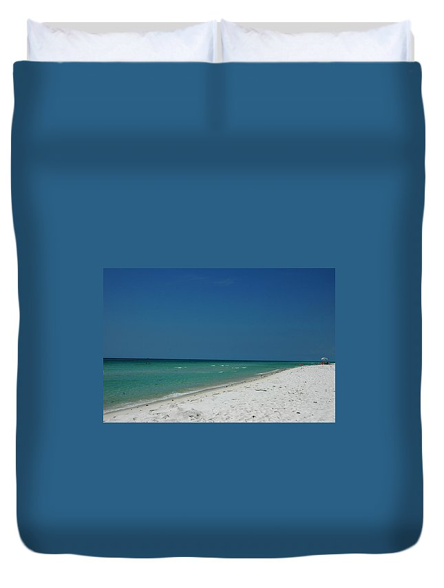 Photography Duvet Cover featuring the photograph Endless Horizon by Susanne Van Hulst