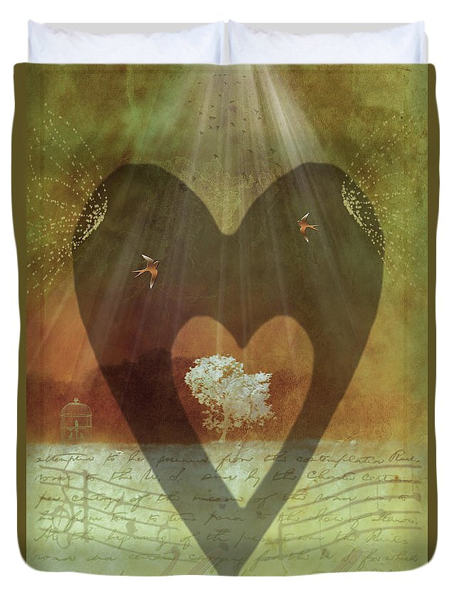 Surrealism Duvet Cover featuring the digital art Endless Love by Holly Kempe