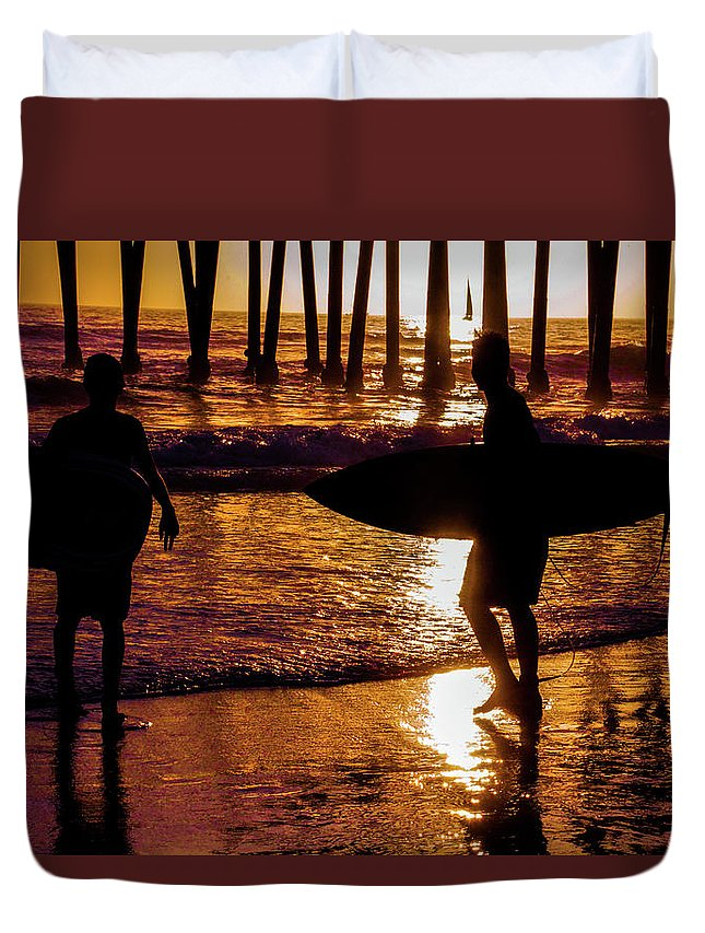 California Duvet Cover featuring the photograph Endless Summer 3 by Tommy Anderson