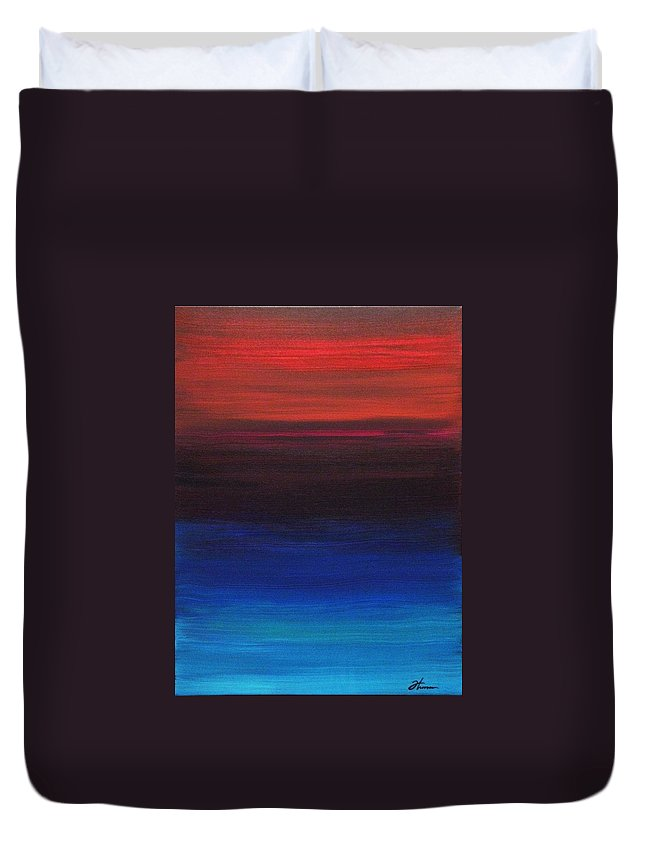 Original Duvet Cover featuring the painting Endless by Todd Hoover