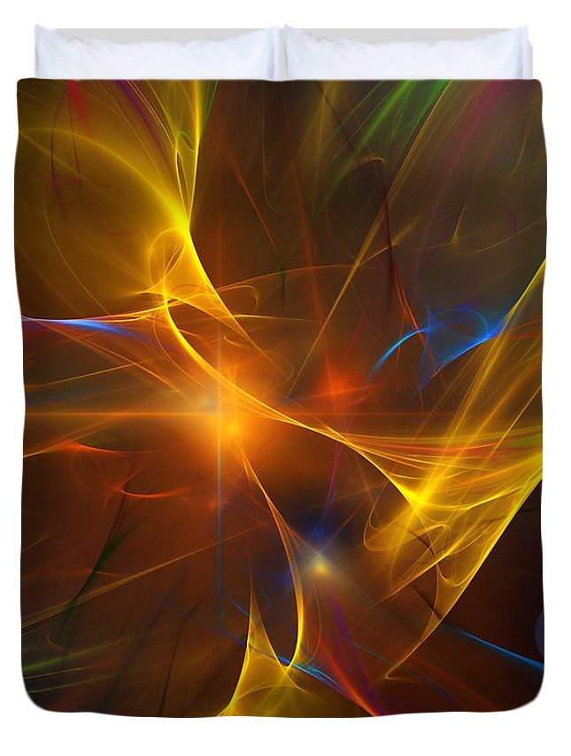 Fractal Duvet Cover featuring the digital art Energy Matrix by David Lane