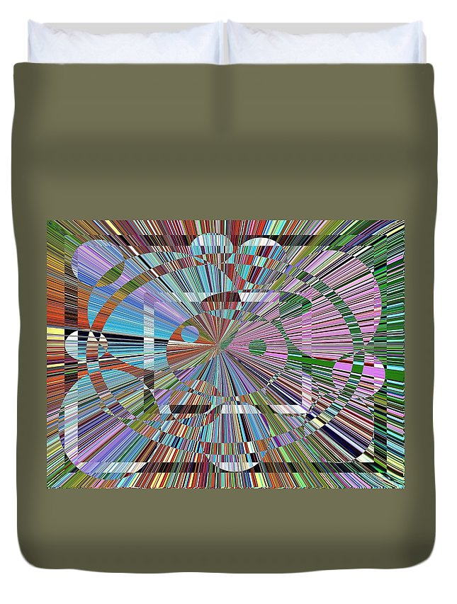 Abstract Duvet Cover featuring the digital art Energy by Tim Allen