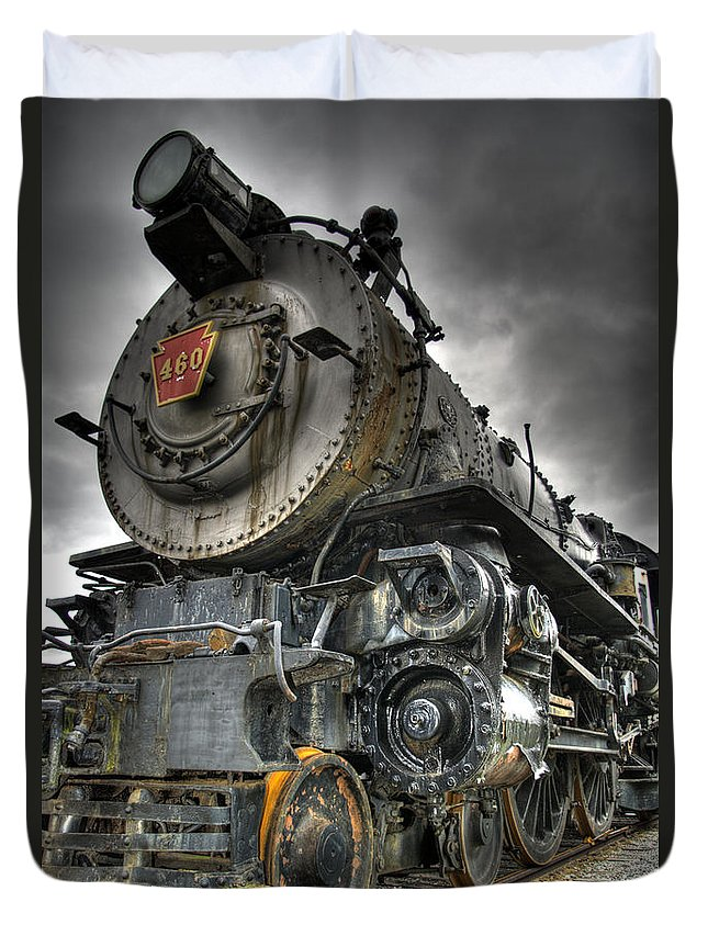 Hdr Duvet Cover featuring the photograph Engine 460 by Scott Wyatt