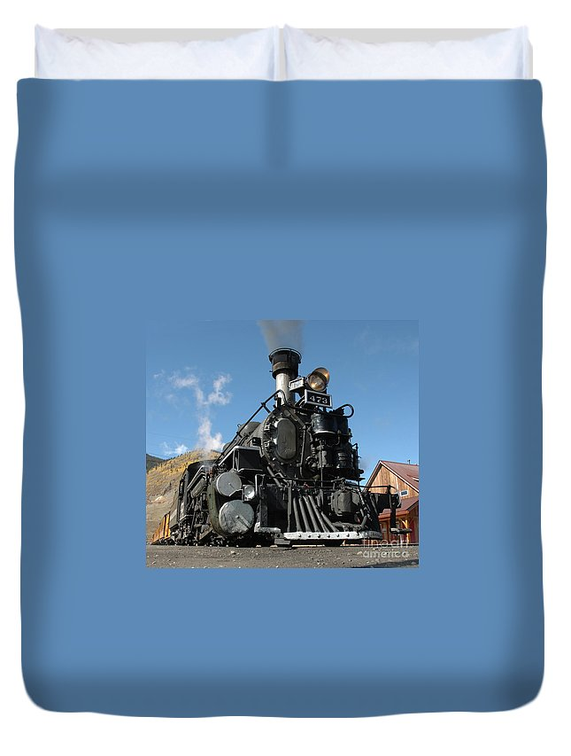 Train Duvet Cover featuring the photograph Engine Number 473 by Jerry McElroy